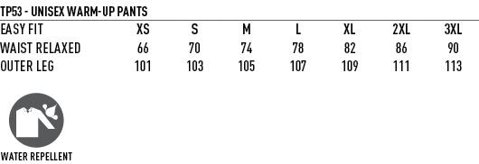 TP53 size - LEGEND PANTS - Unisex TP53